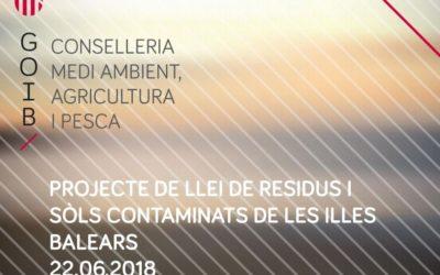 La reducción de los residuos, uno de los objetivos de la primera ley sobre la materia en las Illes Balears