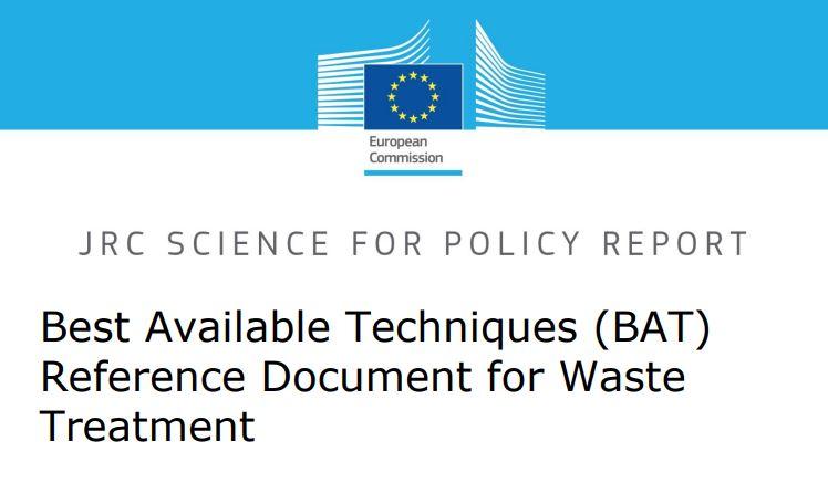 Nuevo documento sobre MTD (mejores técnicas disponibles) en tratamiento de residuos.