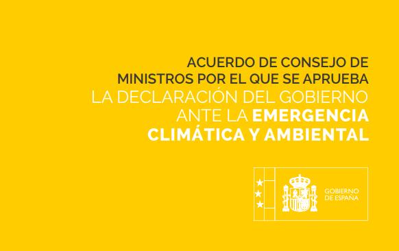 El Gobierno declara la emergencia climática