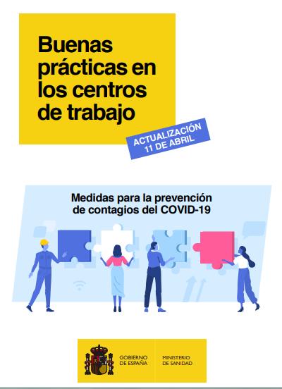 El Gobierno actualiza la guía de buenas prácticas en los centros de trabajo frente al COVID-19