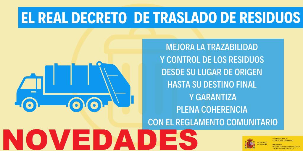 NOVEDADES DEL NUEVO REAL DECRETO DE TRASLADOS DE RESIDUOS