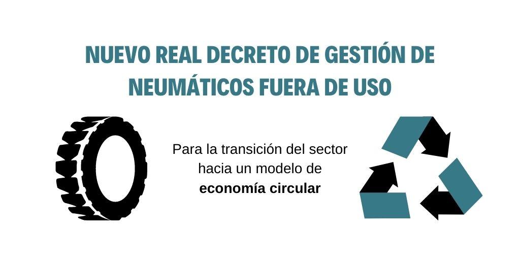 Publicado el RD sobre la gestión de neumáticos fuera de uso para acelerar la transición del sector hacia una economía circular