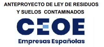 ANGEREA ACUDE A LA reunión del Grupo de trabajo de economia circular  DE CEOE  para analizar el Anteproyecto de Ley de Residuos