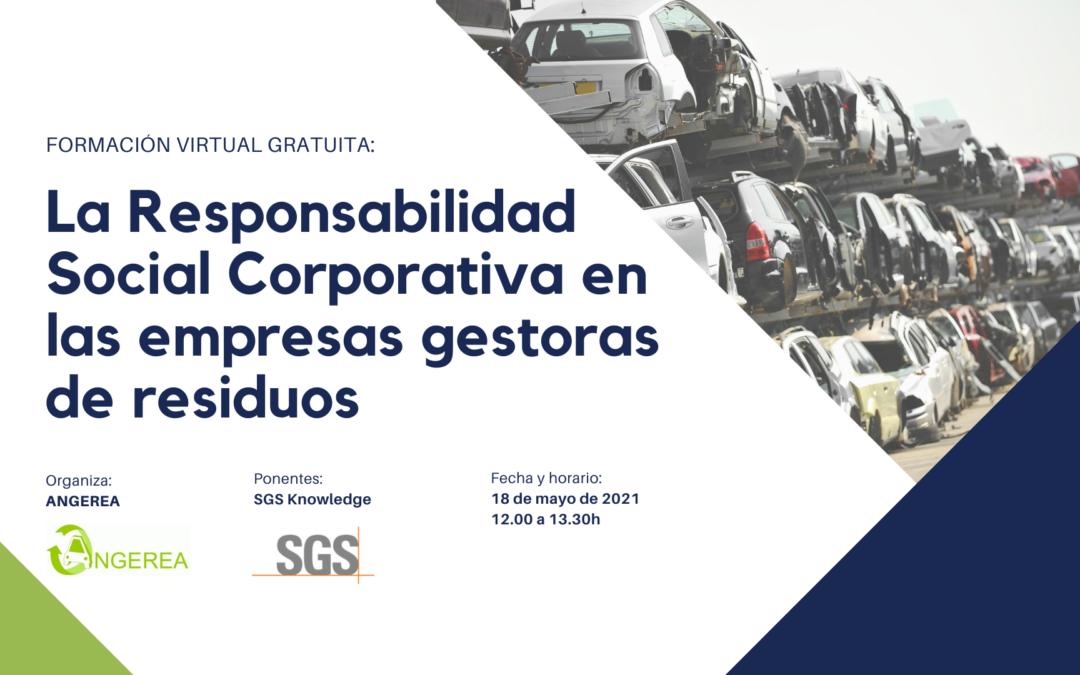 JORNADA VIRTUAL GRATUITA: LA RESPONSABILIDAD SOCIAL CORPORATIVA EN LAS EMPRESAS GESTORAS  DE RESIDUOS