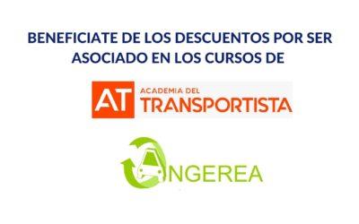 ANGEREA Y ACADEMIA DEL TRANSPORTISTA FIRMAN UN ACUERDO DE COLABORACIÓN PARA FOMENTAR LA FORMACIÓN DE SUS ASOCIADOS